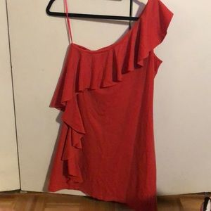 Susana Monaco one shoulder ruffle dress